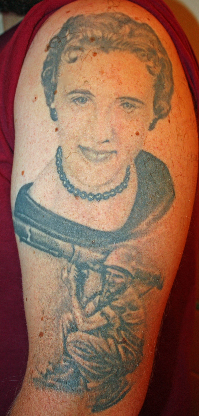 Tattoo pictured: Grandma and