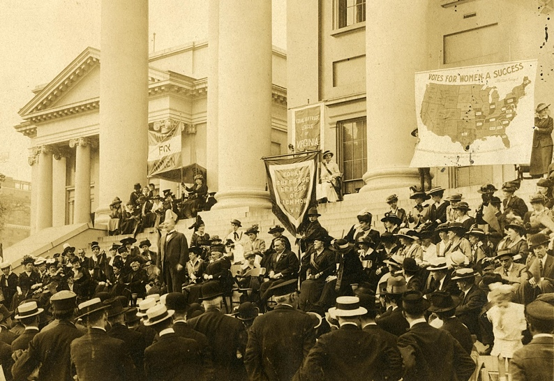 Womens Suffrage Protest On The Steps Of The Capitol