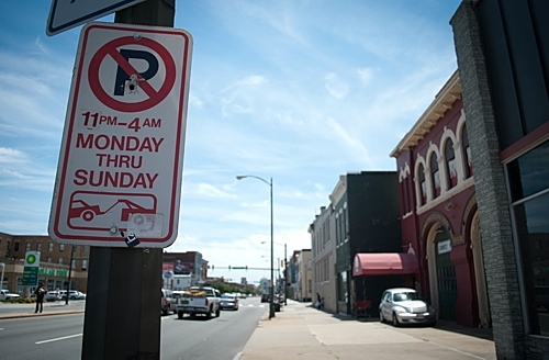 No Parking sign W. Broad Street