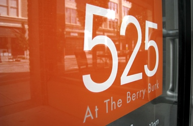 525 at the berry burk sign