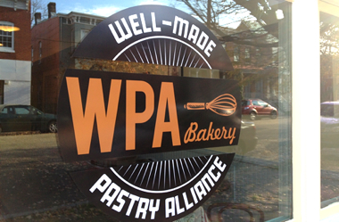 WPA Bakery sign