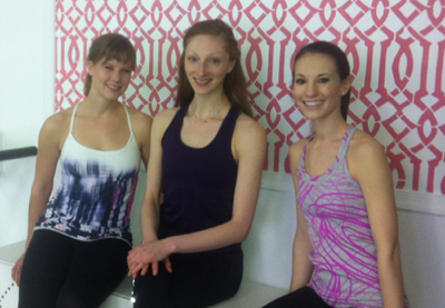 From left to right: instructors Julie Smith, Lauren Fagone and Sarah Ruppel Bullis