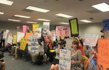 Board of Health protest
