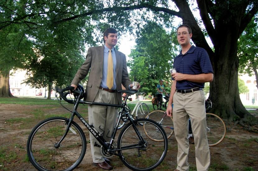 Councilman Parker Agelasto and John Bolocek (VDOT)