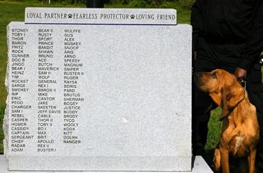 K-9 memorial