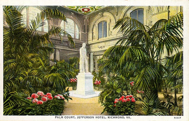 Depiction of The Jefferson's Palm Court