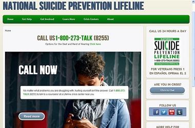 Suicide prevention website