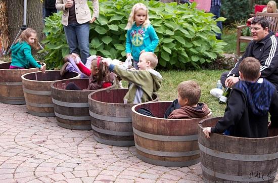 Kids wine barrel