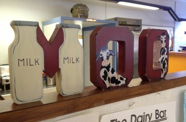 Moo sign at The Dairy Bar