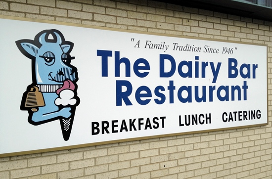 The Dairy Bar sign