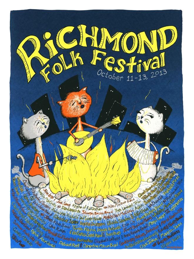 2013 Folk Festival poster