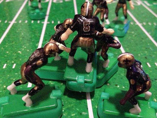 Saints kicker Garrett Hartley and teammates celebrate his game-winning 27-yard field goal as time expired.