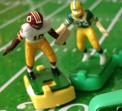 Robert Griffin III ran four times for total of a single yard in yesterday's thrashing by the Green Bay Packers.