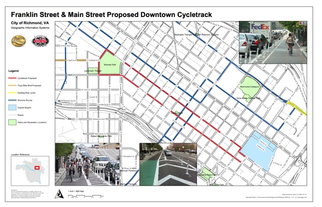 Cycle track map