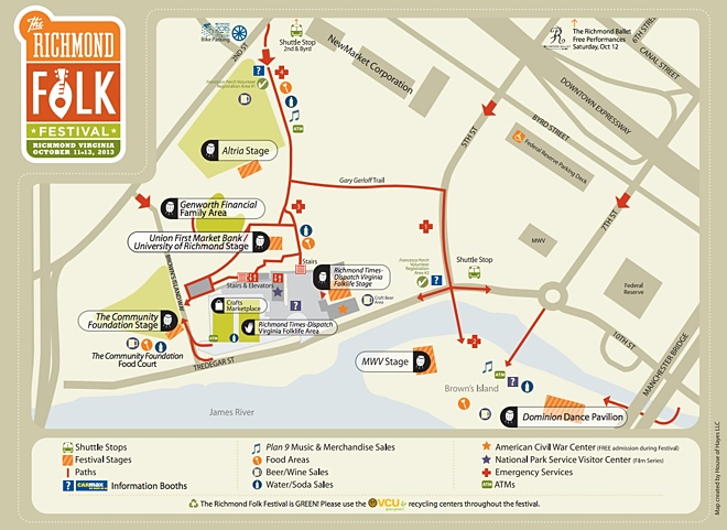 Folk Fest 2013 map