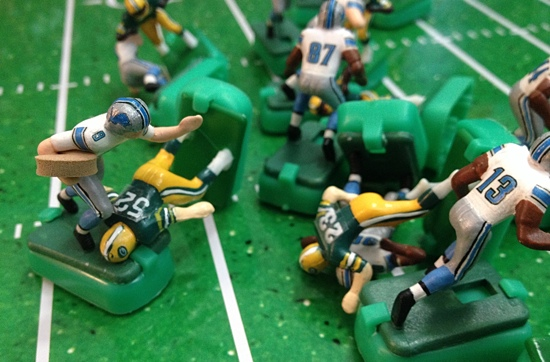 The Packers sacked Lions quarterback Mark Stafford five times and kept Detroit out of the end zone until late in the 4th quarter.
