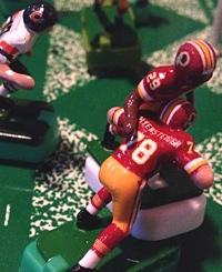 Roy Helu Jr celebrates his game-winning touchdown with teammate Kory Lichtensteiger.