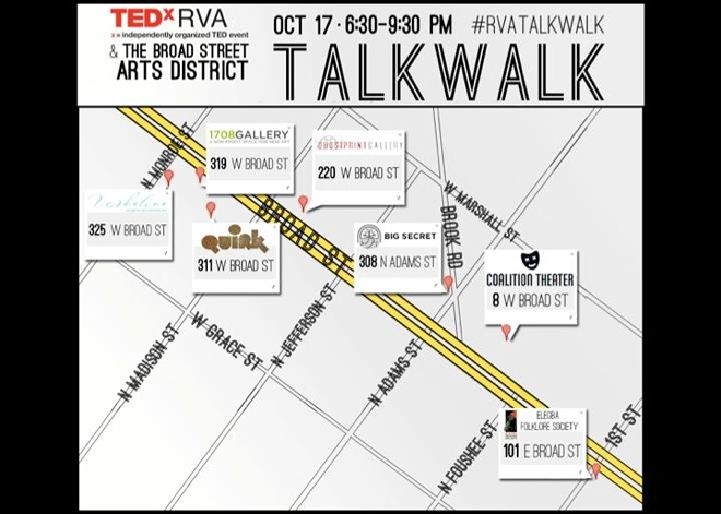 TED TalkWalk map