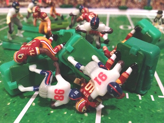 Justin Tuck sacked Griffin four of the five times the Giants got the Redskins quarterback in the 2nd half.