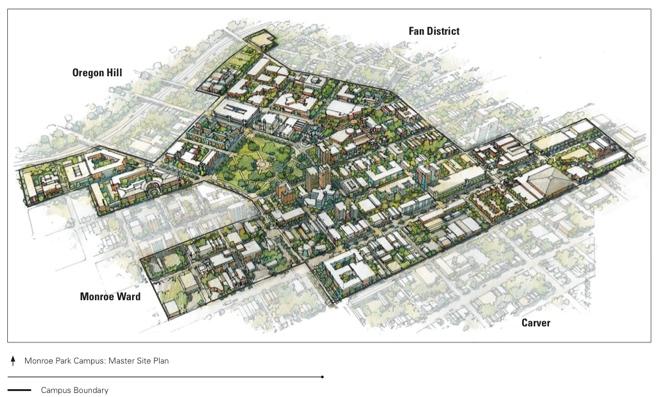 VCU Monroe Park site plan