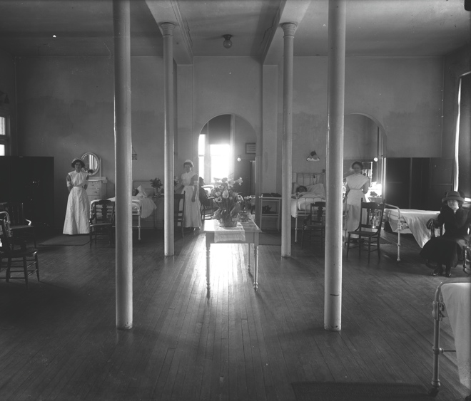 1890s hospital interior