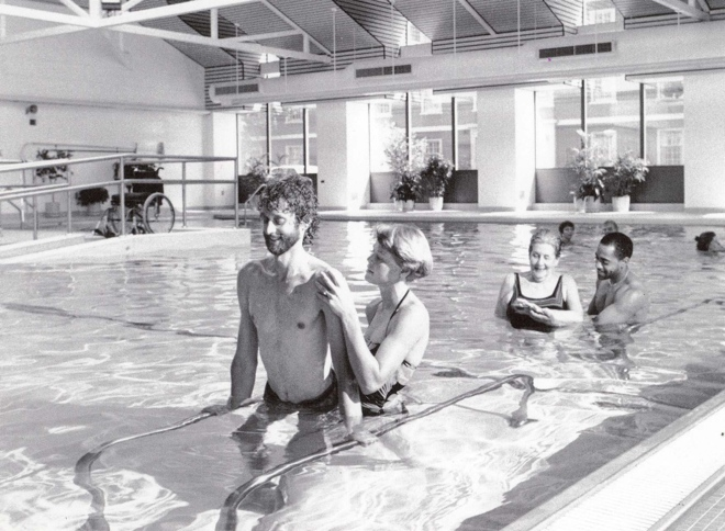 1980s pool therapy