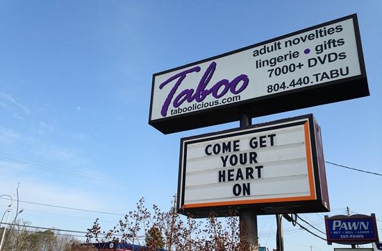 Taboo sign