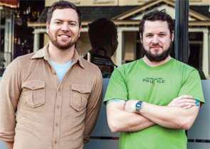 Saison Market owners Jay Bayer and Adam Hall.
