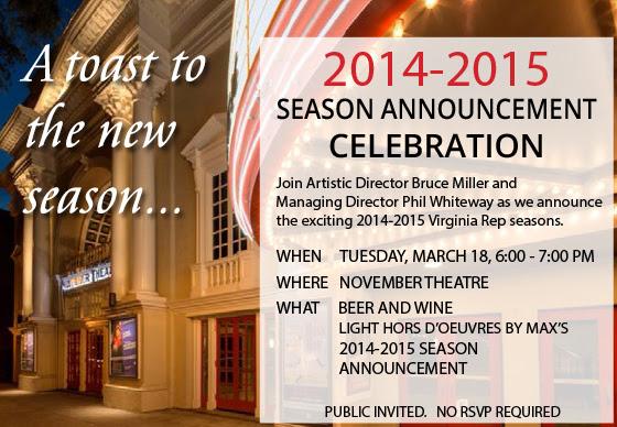 Virginia Rep 2014-2015 Season Announcement