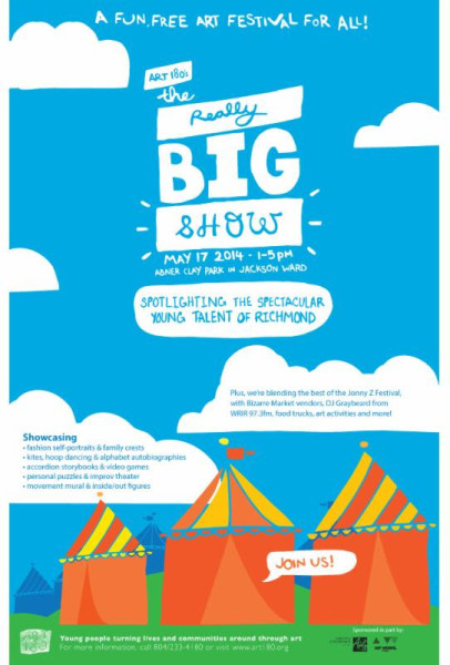 "ART 180 ""The Really Big Show"" poster"