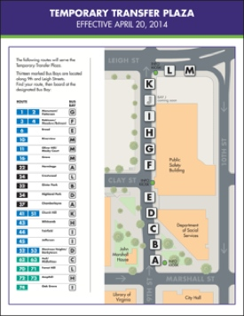 GRTC Transfer Plaza map