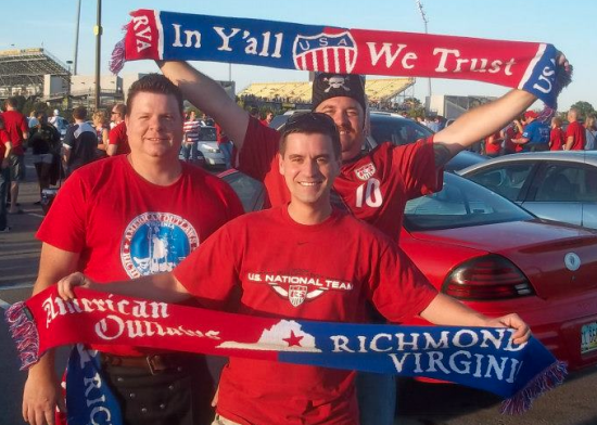 Richmond Chapter of American Outlaws in Columbus, OH for qualifying match.