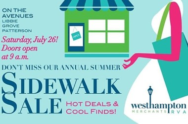 2014 Westhampton sidewalk sale flyer