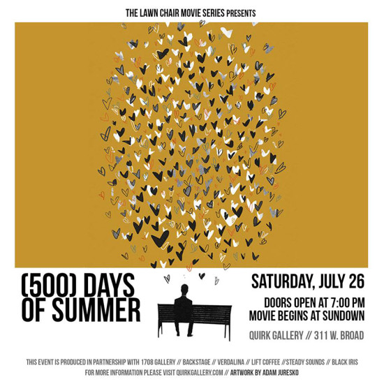 (500) Days of Summer - Lawn Chair Movie Series at Quirk Gallery