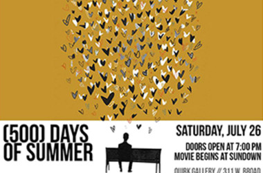 Lawn Chair Movie Series at Quirk Gallery - (500) Days of Summer