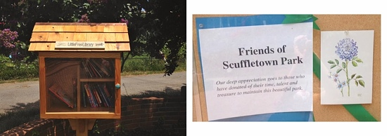 Super sweet note of appreciation and a Little Free Library--take a book, return a book!