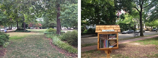 Another Little Free Library and more dazzling, pricey homes that overlook this little park. Lucky dogs.