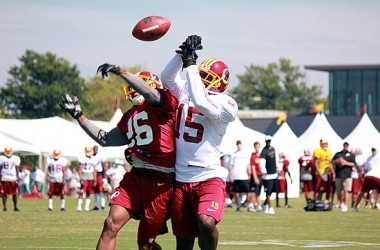 Redskins practice training camp