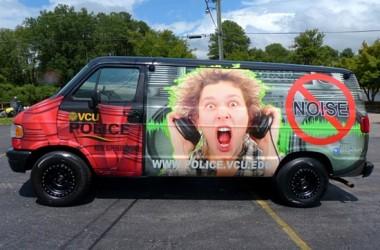 VCU Police noise suppression vehicle