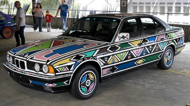 Esther Mahlangu BMW car