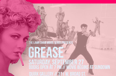 Quirk Gallery Lawn Chair Movie Series - Grease movie poster
