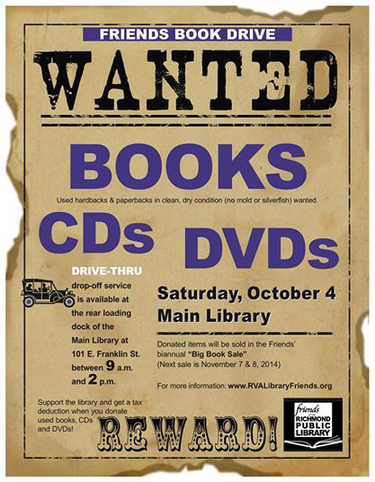 Main Library Book Drive