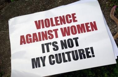 Violence against women sign