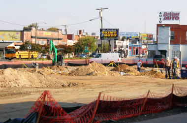 Boulevard Starbucks Construction