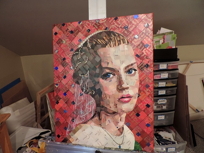 junk mail art painting 4