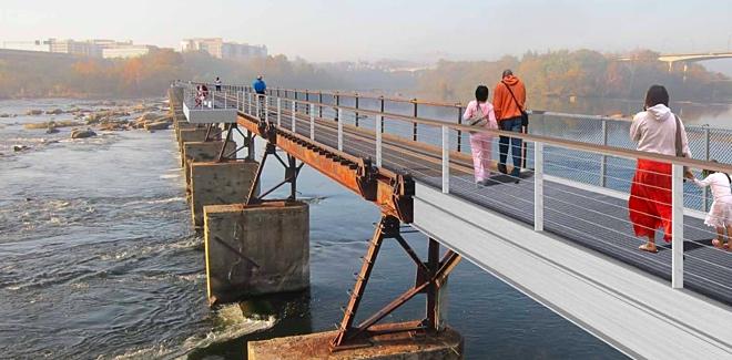 Rendering of the T. Tyler Potterfield Memorial Bridge
