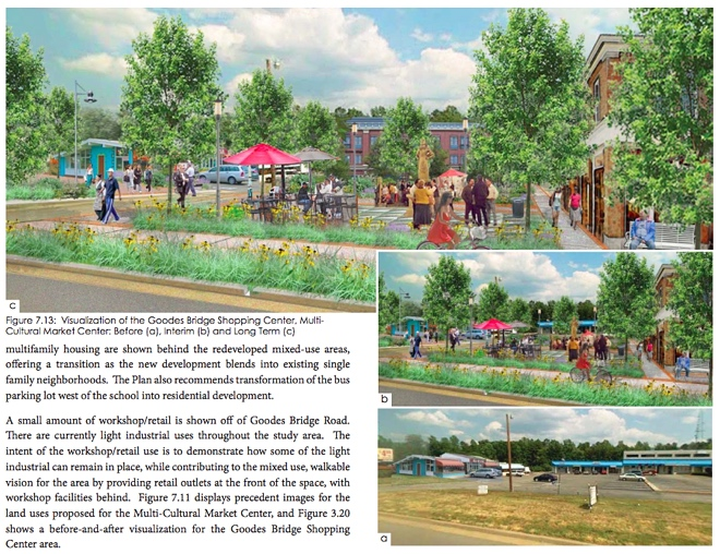 Goodes Bridge Shopping Center rendering - Hull Street Corridor revitilazation