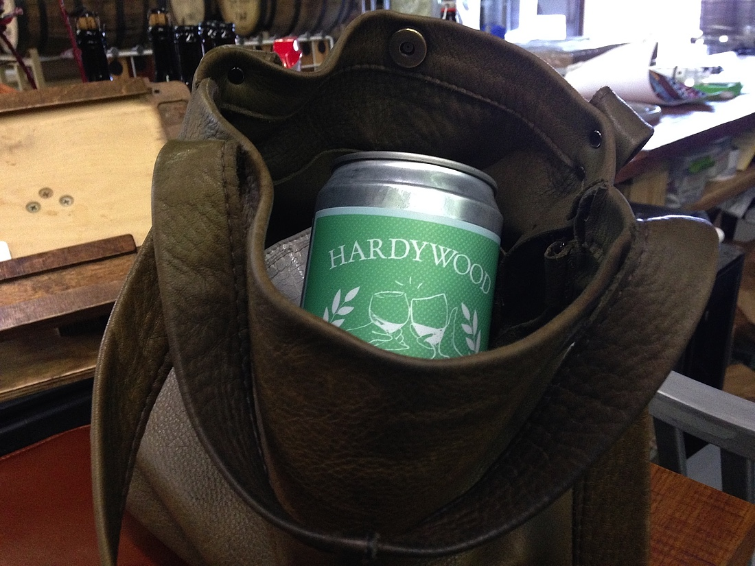 I was kidding, but a Crowler did neatly fit into my purse and made everything in it very cold.