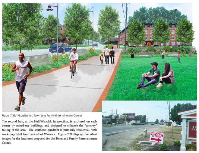 Hull:Warwick rendering Hull Street revitalization