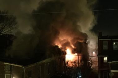 Fire in Jackson Ward